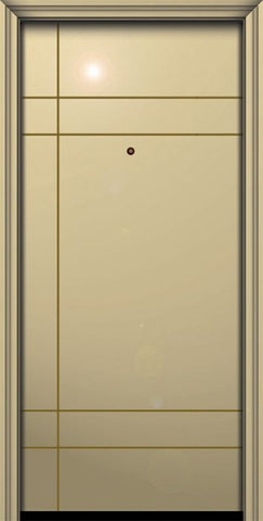 WDMA 32x80 Door (2ft8in by 6ft8in) Exterior Smooth 80in Inglewood Solid Contemporary Door 1