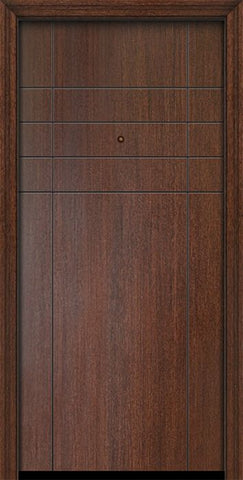 WDMA 32x80 Door (2ft8in by 6ft8in) Exterior Mahogany 80in Fleetwood Solid Contemporary Door 1