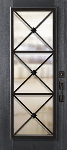 WDMA 32x80 Door (2ft8in by 6ft8in) Exterior Mahogany 80in Full Lite Republic Portobello Door 1