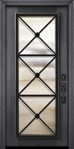 WDMA 32x80 Door (2ft8in by 6ft8in) Exterior Mahogany 80in Full Lite Republic Portobello Door 2