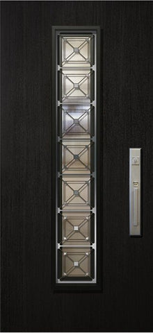 WDMA 32x80 Door (2ft8in by 6ft8in) Exterior Mahogany 80in Malibu Contemporary Door with Speakeasy 1