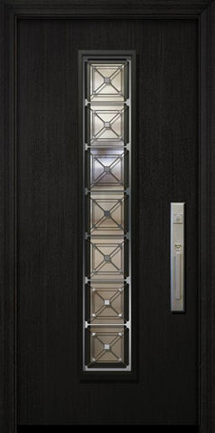 WDMA 32x80 Door (2ft8in by 6ft8in) Exterior Mahogany 80in Malibu Contemporary Door with Speakeasy 2