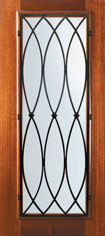 WDMA 32x80 Door (2ft8in by 6ft8in) Exterior Mahogany 80in Full Lite La Salle Door 1