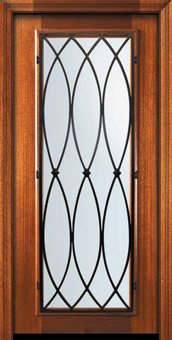 WDMA 32x80 Door (2ft8in by 6ft8in) Exterior Mahogany 80in Full Lite La Salle Door 2