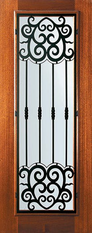 WDMA 32x80 Door (2ft8in by 6ft8in) Exterior Mahogany 80in Full Lite Barcelona Door 1