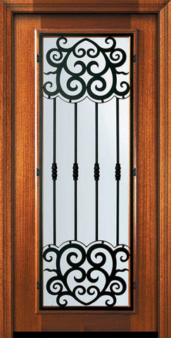 WDMA 32x80 Door (2ft8in by 6ft8in) Exterior Mahogany 80in Full Lite Barcelona Door 2