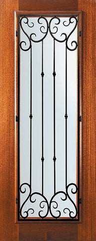 WDMA 32x80 Door (2ft8in by 6ft8in) Exterior Mahogany 80in Full Lite Valencia Door 1
