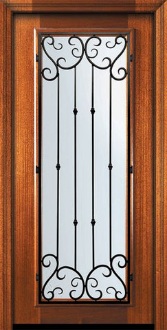 WDMA 32x80 Door (2ft8in by 6ft8in) Exterior Mahogany 80in Full Lite Valencia Door 2