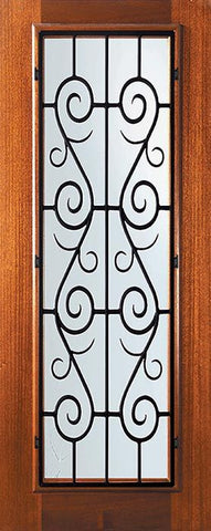WDMA 32x80 Door (2ft8in by 6ft8in) Exterior Mahogany 80in Full Lite St. Charles Door 1