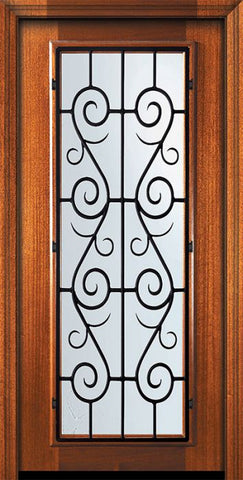 WDMA 32x80 Door (2ft8in by 6ft8in) Exterior Mahogany 80in Full Lite St. Charles Door 2