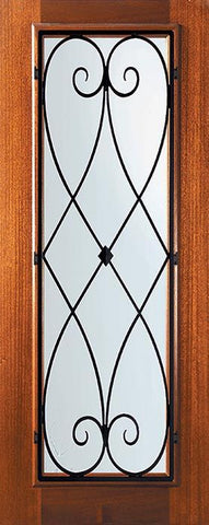 WDMA 32x80 Door (2ft8in by 6ft8in) Exterior Mahogany 80in Full Lite Charleston Door 1