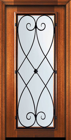WDMA 32x80 Door (2ft8in by 6ft8in) Exterior Mahogany 80in Full Lite Charleston Door 2