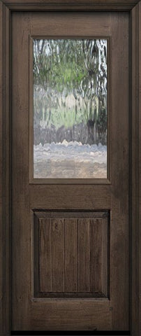 WDMA 32x80 Door (2ft8in by 6ft8in) Exterior Knotty Alder 80in 1/2 Lite Privacy Glass Door 1