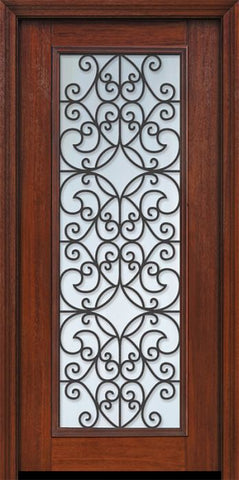 WDMA 32x80 Door (2ft8in by 6ft8in) Exterior Cherry 80in Full Lite Florence / Walnut Door 1