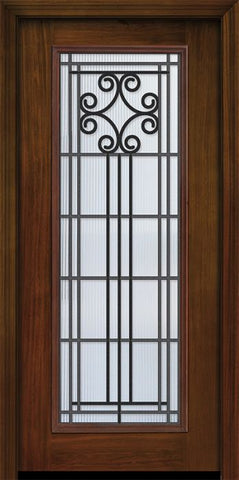 WDMA 32x80 Door (2ft8in by 6ft8in) Exterior Cherry 80in Full Lite Novara / Walnut Door 1