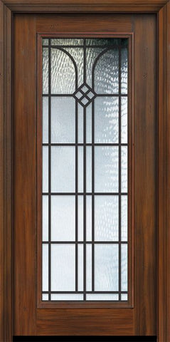 WDMA 32x80 Door (2ft8in by 6ft8in) Exterior Cherry 80in Full Lite Cantania / Walnut Door 1
