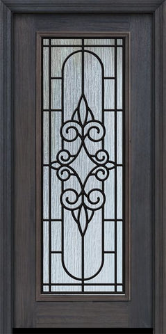 WDMA 32x80 Door (2ft8in by 6ft8in) Exterior Cherry 80in Full Lite Salento / Walnut Door 1