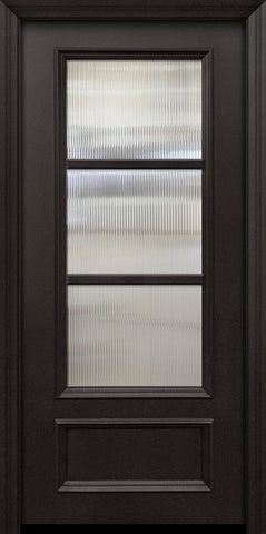 WDMA 32x80 Door (2ft8in by 6ft8in) Patio 80in ThermaPlus Steel 3 Lite SDL 3/4 Lite Door 1
