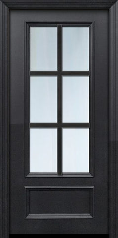 WDMA 32x80 Door (2ft8in by 6ft8in) Patio 80in ThermaPlus Steel 6 Lite SDL 3/4 Lite Door 1