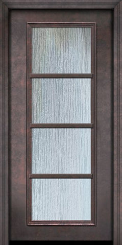 WDMA 32x80 Door (2ft8in by 6ft8in) Patio 80in ThermaPlus Steel 4 Lite SDL Full Lite Door 1