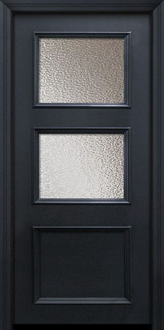 WDMA 32x80 Door (2ft8in by 6ft8in) Exterior 80in ThermaPlus Steel 2 Lite 1 Panel Continental Door w/ Textured Glass 1