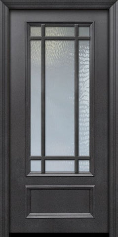 WDMA 32x80 Door (2ft8in by 6ft8in) Patio 80in ThermaPlus Steel 9 Lite SDL 3/4 Lite Door 1