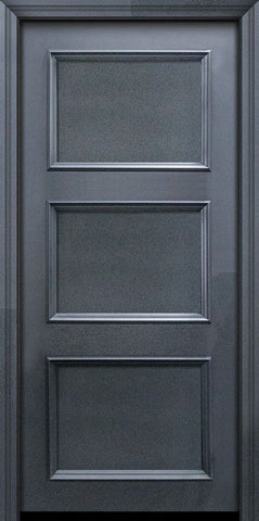 WDMA 32x80 Door (2ft8in by 6ft8in) Exterior 80in ThermaPlus Steel 3 Panel Solid Continental Door 1