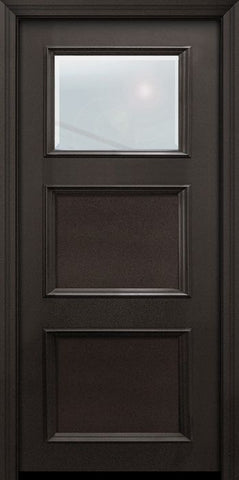 WDMA 32x80 Door (2ft8in by 6ft8in) Exterior 80in ThermaPlus Steel 1 Lite 2 Panel Continental Door w/ Beveled Glass 1