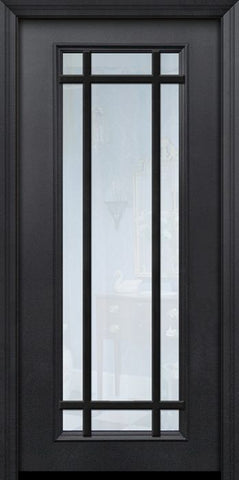WDMA 32x80 Door (2ft8in by 6ft8in) Patio 80in ThermaPlus Steel 9 Lite SDL Full Lite Door 1