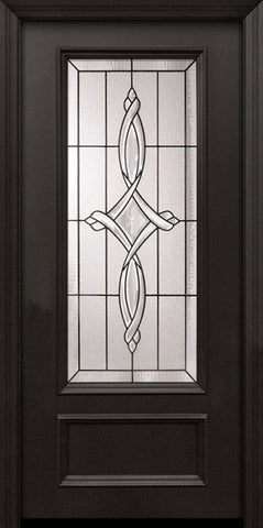 WDMA 32x80 Door (2ft8in by 6ft8in) Exterior 80in ThermaPlus Steel Marsais 1 Panel 3/4 Lite Door 1