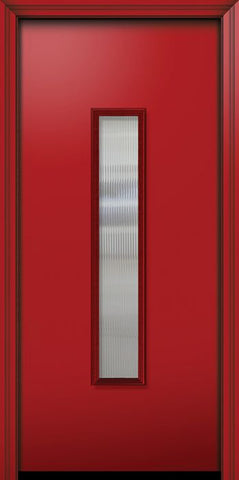 WDMA 32x80 Door (2ft8in by 6ft8in) Exterior 80in ThermaPlus Steel Malibu Contemporary Door w/Textured Glass 1