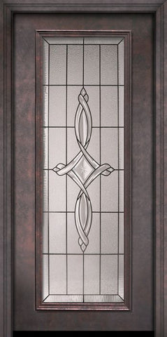 WDMA 32x80 Door (2ft8in by 6ft8in) Exterior 80in ThermaPlus Steel Marsais Full Lite Door 1