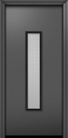 WDMA 32x80 Door (2ft8in by 6ft8in) Exterior 80in ThermaPlus Steel Malibu Contemporary Door w/Metal Grid / Clear Glass 1