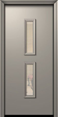 WDMA 32x80 Door (2ft8in by 6ft8in) Exterior 80in ThermaPlus Steel Huntington Contemporary Door w/Metal Grid / Clear Glass 1