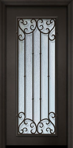 WDMA 32x80 Door (2ft8in by 6ft8in) Exterior 80in ThermaPlus Steel Valencia 1 Panel Full Lite Door 1