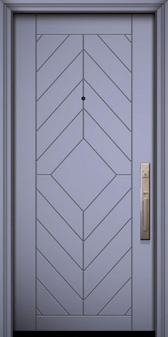 WDMA 32x80 Door (2ft8in by 6ft8in) Exterior Smooth 80in Lynnwood Solid Contemporary Door 1