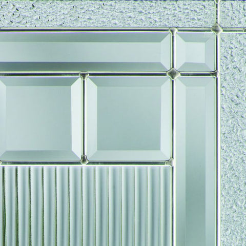 WDMA 32x80 Door (2ft8in by 6ft8in) Exterior Smooth Fiberglass Impact HVHZ Door 1/2 Lite 1 Panel Saratoga 6ft8in 2