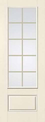 WDMA 32x96 Door (2ft8in by 8ft) Patio Smooth Fiberglass Impact French Door 8ft 3/4 Lite GBG Flat White Low-E 1