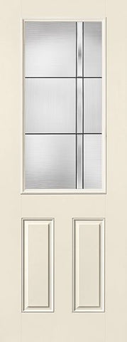 WDMA 32x96 Door (2ft8in by 8ft) Exterior Smooth Fiberglass Impact Door 8ft 1/2 Lite Axis 2