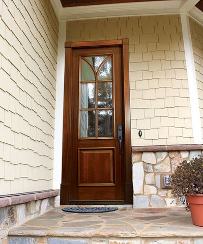 WDMA 32x96 Door (2ft8in by 8ft) Exterior Swing Mahogany Seville Single Door Renaissance 2