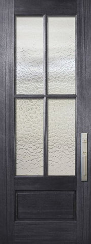 WDMA 32x96 Door (2ft8in by 8ft) French Mahogany 96in 4 Lite TDL DoorCraft Door w/Textured Glass 1