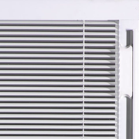 WDMA 32x96 Door (2ft8in by 8ft) French Smooth Fiberglass Impact Door 8ft Full Lite With Stile Lines Blinds 1
