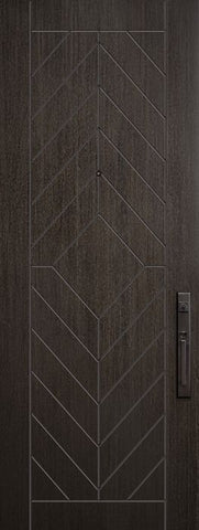 WDMA 32x96 Door (2ft8in by 8ft) Exterior Mahogany 96in Lynnwood Contemporary Door 1