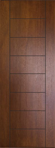 WDMA 32x96 Door (2ft8in by 8ft) Exterior Mahogany 96in Brentwood Contemporary Door 1
