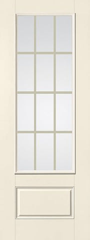 WDMA 32x96 Door (2ft8in by 8ft) French Smooth Fiberglass Impact Door 8ft 3/4 Lite GBG Flat White Low-E 1
