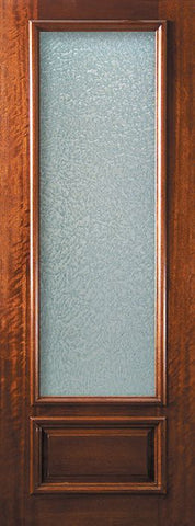 WDMA 32x96 Door (2ft8in by 8ft) French Mahogany 96in 3/4 Lite Portobello Door 1