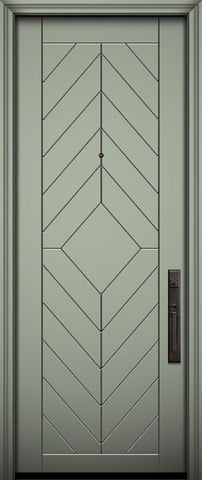 WDMA 32x96 Door (2ft8in by 8ft) Exterior Smooth IMPACT | 96in Lynnwood Solid Contemporary Door 1