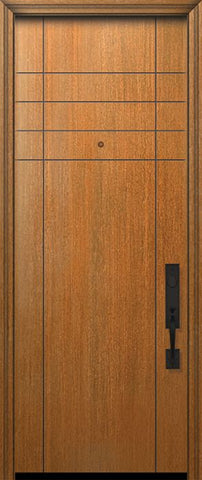 WDMA 32x96 Door (2ft8in by 8ft) Exterior Mahogany IMPACT | 96in Fleetwood Solid Contemporary Door 1