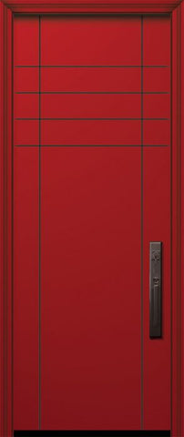 WDMA 32x96 Door (2ft8in by 8ft) Exterior Smooth IMPACT | 96in Fleetwood Solid Contemporary Door 1