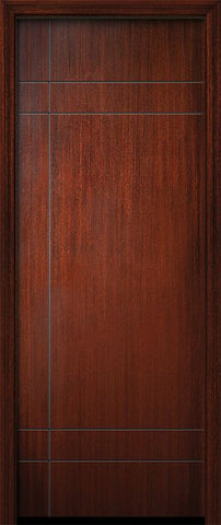 WDMA 32x96 Door (2ft8in by 8ft) Exterior Mahogany IMPACT | 96in Inglewood Solid Contemporary Door 1